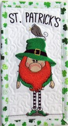 ITH Leprechaun 2 Quilt Block embroidery design