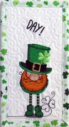 ITH Leprechaun 3 Quilt Block embroidery design