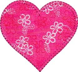 Heart Precut Applique embroidery design