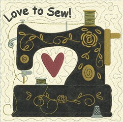 Sewing Quilt Block embroidery design