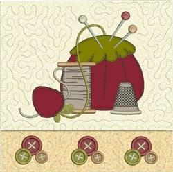 Pincushion Quilt Block embroidery design