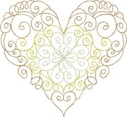 Multi-Color Whirl Heart embroidery design