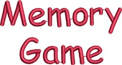 Memory Game Lettering embroidery design