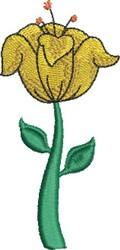 Tulip embroidery design