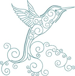 Magnificent Hummingbird 1 embroidery design