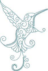 Magnificent Hummingbird 4 embroidery design