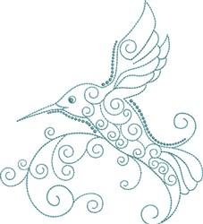 Magnificent Hummingbird 5 embroidery design