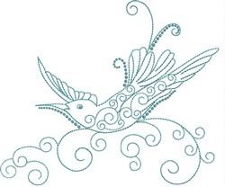 Magnificent Hummingbird 6 embroidery design
