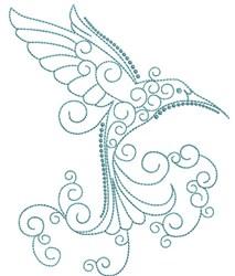 Magnificent Hummingbird 7 embroidery design