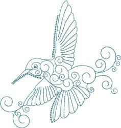 Magnificent Hummingbird 8 embroidery design