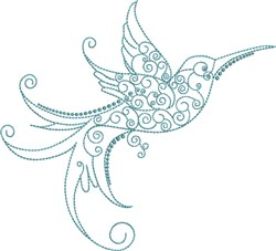 Magnificent Hummingbird 10 embroidery design