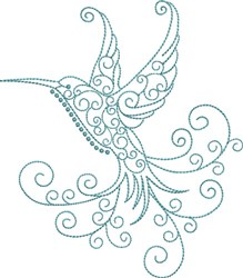 Magnificent Hummingbird 11 embroidery design