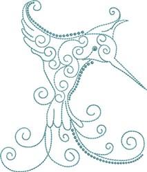 Magnificent Hummingbird 12 embroidery design