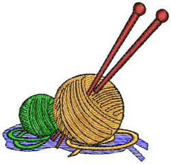 Yarn and Needles embroidery design
