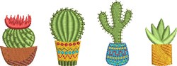 Mini Cactus Group 2 embroidery design
