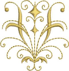 Miniature Gold Crest embroidery design