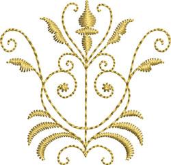 Miniature Goldwoek Crest embroidery design