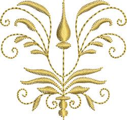 Miniature Goldwork Crest embroidery design
