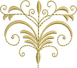 Miniature Swirl Crest embroidery design
