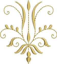 Miniature Crest Curl embroidery design