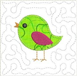 ITH Birdie Applique Mini Quilt Block embroidery design