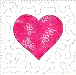ITH Heart Mini Quilt Block embroidery design