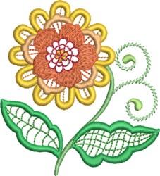 Jacobean Vintage Floral embroidery design