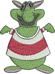 Big Nosed Monster embroidery design