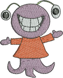 Squidly Monster embroidery design