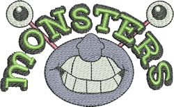 Monsters Sign embroidery design