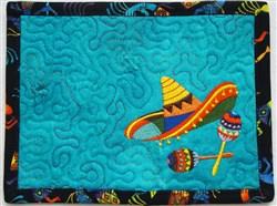 ITH Margarita Mug Rug 1 embroidery design