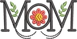 Mom Monogram 5 embroidery design