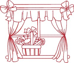 Sewing Room Window embroidery design