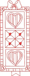 Redwork Quilt embroidery design