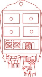 Redwork Sewing Rack embroidery design