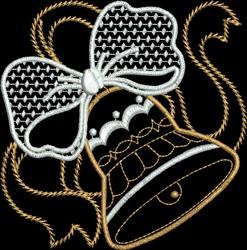 Metallic Bell embroidery design