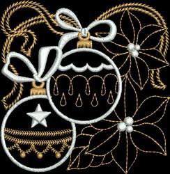 Metallic Decorative Ornaments embroidery design