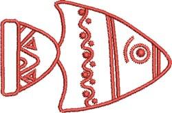 Native Fish embroidery design