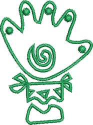 Native Hand embroidery design