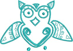 Whimsical Native Owl embroidery design