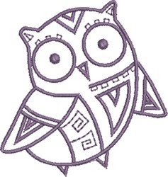 Cute Baby Native Owl embroidery design