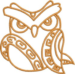 Daddy Aztec Native Owl embroidery design