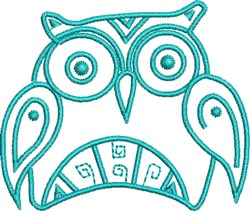 Indian Native Owl embroidery design