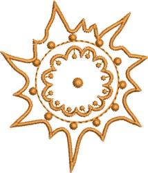 Little Native Sun embroidery design