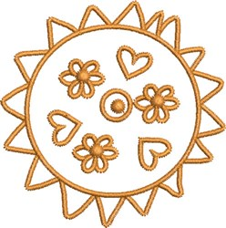 Sweet Native Sun embroidery design