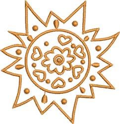 Native Hot Sun embroidery design