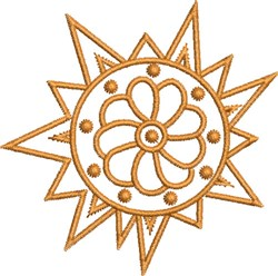 Floral Del Sol embroidery design