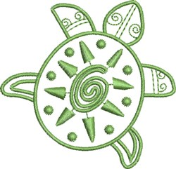 Painted Turtle embroidery design