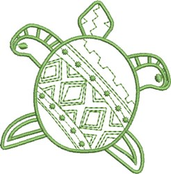 Diamond Back Turtle embroidery design