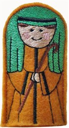 ITH Joseph Finger Puppet embroidery design